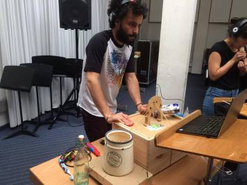 Daniel and his playing setup